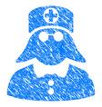 medical nurse grunge icon vector image vector image