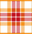orange and red tartan plaid seamless pattern vector image vector image