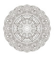 oriental pattern traditional round ornament vector image vector image