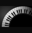 piano keys on black background for design vector image