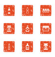 pill icons set grunge style vector image