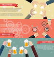 Process of business teamwork infographic vector image vector image