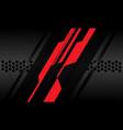 red dark grey carbon metallic cyber polygon vector image vector image