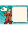 sale businessman promoter vector image vector image