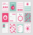 scrapbook sof greeting cards vector image vector image