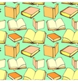 Seamless pattern with decorative books vector image
