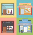 Shop and store vector image vector image