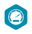 speedometer icon simple style vector image vector image