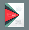 stylish brochure design with geometric shape vector image vector image