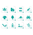 stylized different kind of drug icons vector image vector image