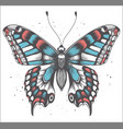 tropica butterfly with shadow tattoo butterfly vector image