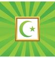 Turkey symbol picture icon vector image