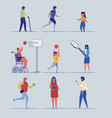 various age health and gender people characters vector image