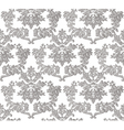 Vintage Baroque ornament engraving floral pattern vector image