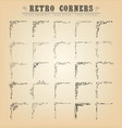 vintage old-fashioned corners borders and frames vector image vector image