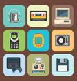 vintage technologies retro audio multimedia vector image vector image