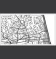 virginia beach usa city map in retro style vector image