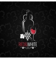 wine glass logo design background vector image vector image
