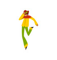 young man dancing samba at brazil carnival male vector image vector image