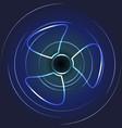 cooling fan art ventilator symbol vector image