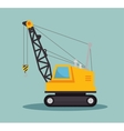crane construction icon design vector image
