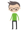 Smiling boy with glasses vector image