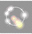White circle lens flare effect Abstract vector image