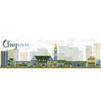 Abstract Cheyenne Wyoming Skyline vector image vector image