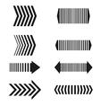 arrows set linear design elements vector image