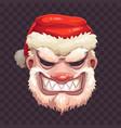 bad santa mask on transparent background vector image vector image