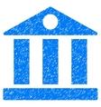 Bank Building Grainy Texture Icon vector image vector image