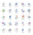 banking and business isometric pack vector image