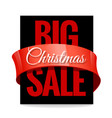 big christmas sale black label vector image