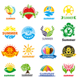 Biggest collection of logos summer vector image