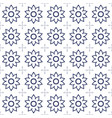 black and white flower background vector image vector image