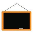 blank blackboard in wooden frame vector image vector image
