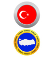 button as a symbol map TURKEY vector image