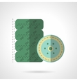 Car wheel flat color icon vector image vector image