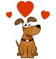 cartoon enamoured dog vector image vector image