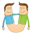 Cartoon twins vector image vector image