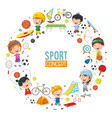 children sports concept design vector image vector image
