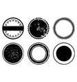 circle stamp set vector image vector image