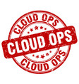 cloud ops red grunge stamp vector image vector image