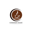 coffee cup logo template icon vector image vector image