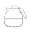 coffee glass pot vector image vector image