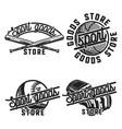 color vintage sport goods emblems vector image vector image