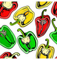 colorful seamless pattern with bell pepper vector image vector image