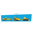 construction machines trucks vehicles for vector image