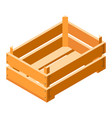 crate icon isometric style vector image