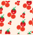 cute tomato seamless pattern vector image